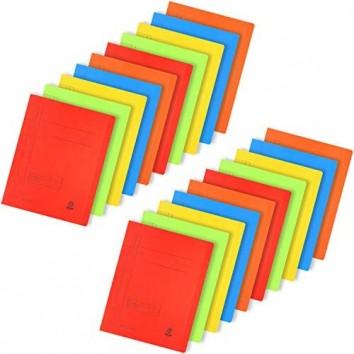 com-four® 20x Kartonschnellhefter DIN A4 - Schnellhefter in bunten Farben - Hefter aus Pappe für Schule Büro und zu Hause (20 Stück - Kartonschnellhefter bunt)