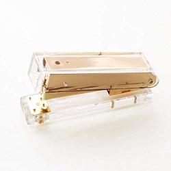 WXCL Roségold Gold Manuelle Hefter Hefter Büro Mode Metall Hefter Bürobedarf Student Briefpapier Gold Hefter