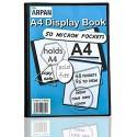 Arpan Präsentationsmappe 48 Taschen A4 Schwarz