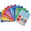 Exacompta 55510AMZE Packung mit 11 Gummizugmappen (10+1Gratis) 3 Klappen 24 x 32 cm 400 g farbig sortiert