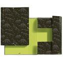 MIQUELRIUS - Ledermappe - DIN A4 Gummizugverschluss Hartkarton Design Jurassic