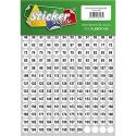 200 nummerierte Klebepunkte 15 mm weiß aus PVC Folie wetterfest Markierungspunkte Kreise Punkte Zahlen Nummern Aufkleber
