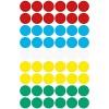 AVERY Zweckform 3088 selbstklebende Markierungspunkte (Ø 12 mm 270 Klebepunkte auf 5 Bogen runde Aufkleber für Kalender Planer und zum Basteln Papier matt) bunt