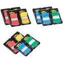 Post-it Haftstreifen Index Promotion 680-P12 – Farbige Haftnotizen in 25 4 x 43 2 mm – 12 Notizblöcke à 50 Blatt in 4 Farben im praktischen Spender