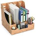 Lesfit Stehsammler Dokumentenablage Holz Ablagesystem Büro Organizer Zeitschriftenständer Stehordner Katalogsammler Schreibtisch Ablagefächer Briefablage