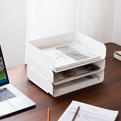 3-stöckige stapelbare A4-Ablage für Aktenordner Dokumente Briefpapier-Organizer