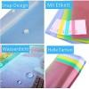 A4 Dokumententasche Farbtransparente Dokumententasche Mit Etikett Dokumentenmappe Druckknopf für Dokument Speicherung (10 Stück)