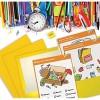 Better Office Products Papiermappen 2 Taschen glänzend gelb 25 Stück