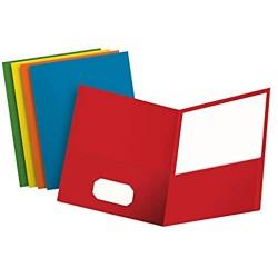 Oxford Doppeltaschenmappe Briefgröße 25 Stück pro Box Verschiedene Farben 50 Stück