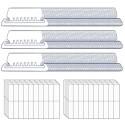 Venhua 210 Stück Hängeregistratur-Tabs und 210 Stück blanko 5 1 cm Einlagen pro Packung für schnelle Identifizierung von Hängeregistraturen leicht zu lesen klar