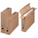 Nips 152582162 Archiv-Ablagebox 65 Select mit Blitzboden B 6 5 x T 24 0 x H 32 0 cm 25er Packung braun/blau