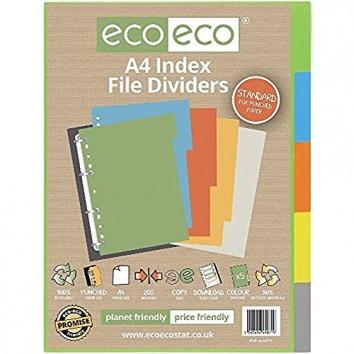 eco-eco A4 50% Recycelt Set 5 Indexdatei Teiler