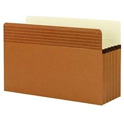 Smead Easy Grip® Dokumententasche gerader Schnitt 14 cm Erweiterung legale Größe Redrop 10 Stück pro Box (73211)