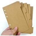 EastVita 5 Blatt Notizbücher mit 6 Löchern Registerkarten für Sammelalben Register Planer Trennblätter A6 Kraftpapier-Index
