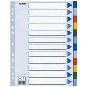 Esselte Register für A4 Deckblatt und 12 Trennblätter mit Taben Mehrfarbig Robuster Kunststoff 15262