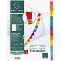 Exacompta 1113E Packung mit Register Karton weiß 160g/m² Monate für DIN A4 Indexseite 1 Pack farbig sortiert