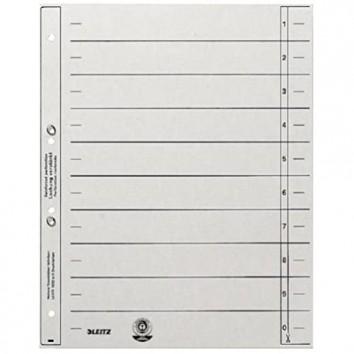 Leitz 1654-00-85 Trennblätter A4 geöst 200g/qm Inh.100 grau