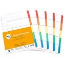 perfect line 5er Pack 5-teiliges DIN-A4 Register farbig (5x5) 22 3 x 29 7 cm mit Deckblatt Farb-Trenner aus Karton in 5 Farben 160 g perfekte Trenn-Blätter für die Ordner-Organisation im Büro