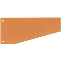 SCHÄFER SHOP Trennstreifen Trapez Trapeztrennstreifen Karton 190 g/qm mit 2-fach Lochung 100 Stück (orange)