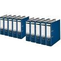 Leitz 1010-50 Qualitäts-Ordner Plastik-Cover (A4 breit | 10er Pack blau)