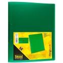 Idena 224337 - Ringbuch DIN A4 aus PP 2 Ringe 35 mm Rückenbreite transluzent grün 1 Stück