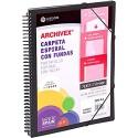 ArchIVEX Schreibmappe mit Spiralbindung PP A4 50 F Schwarz