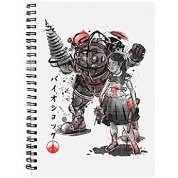 Bioshock Big Daddy Little Sister Spiral Notebook