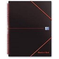 Black n Red Spiralbuch Polypropylen 90 g/m² liniert 140 Seiten A6 5 Stück