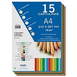 Dohe Karton 50 Blatt A4 5 verschiedene Farben
