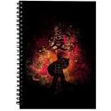 Naruto Gaara Silhouette Spiral Notebook