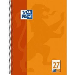 Oxford 100050360 Collegeblock A4+ liniert / Rand li. + re. / 4-fach gelocht / Mikroperforation 80 Blatt 20er Pack orange