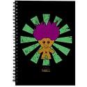 Troll Doll Retro Japanese Spiral Notebook