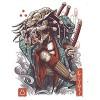 Ukiyo E Samurai Predator Spiral Notebook