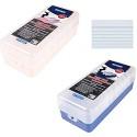 2x Lernbox / Karteikasten / A8 / Farbe: je 1x rosa + blau + 1000 Karteikarten