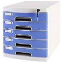 GAOLILI Aktenschränke Multifunktionale Lagerschrank Flat File Cabinet abschließbare Data Office Cabinet vertrauliche Speicherung Schublade Desktop-Organizer PP Kunststoff-Datei-Rack Karteikästen
