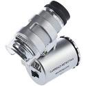 KIMILAR Mini 60X LED Mikroskop Taschenmikroskop Lupe Mikroskop für Juwelier Einstellbare Lupe mit UV-Licht