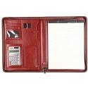 KQP Geschäftsordner Leder Padfolio Aktentasche Box Business Manager A4 Ordner Zipper Bag Gestaltet Geschäftsstelle Datenspeicherung (Color : Brown Size : 342x250mm)