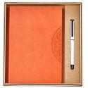 Panduo Notizbuch Geschenknotizbuch Set Geschenkbox Business Meeting Notizblock Büro Schreibwaren Kreatives Notizbuch und Stift Sortieren (Color : Orange)