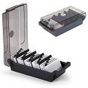 SUNSHINETEK Visitenkartenhalter Box 500 Cards Desk Visitenkarten-Box-Organizer-Halter mit 4 Teilerplatinen und A-Z-Index-Registerkarten Schwarz